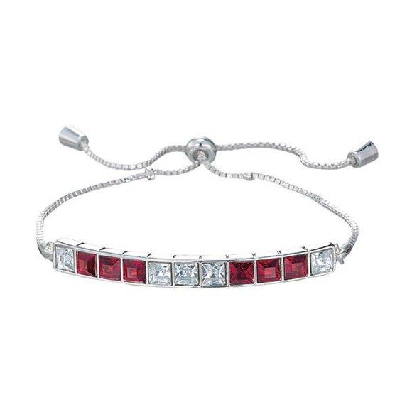 Avon Jewelry - Red Deco Bracelet silvertone adjustable bracelet